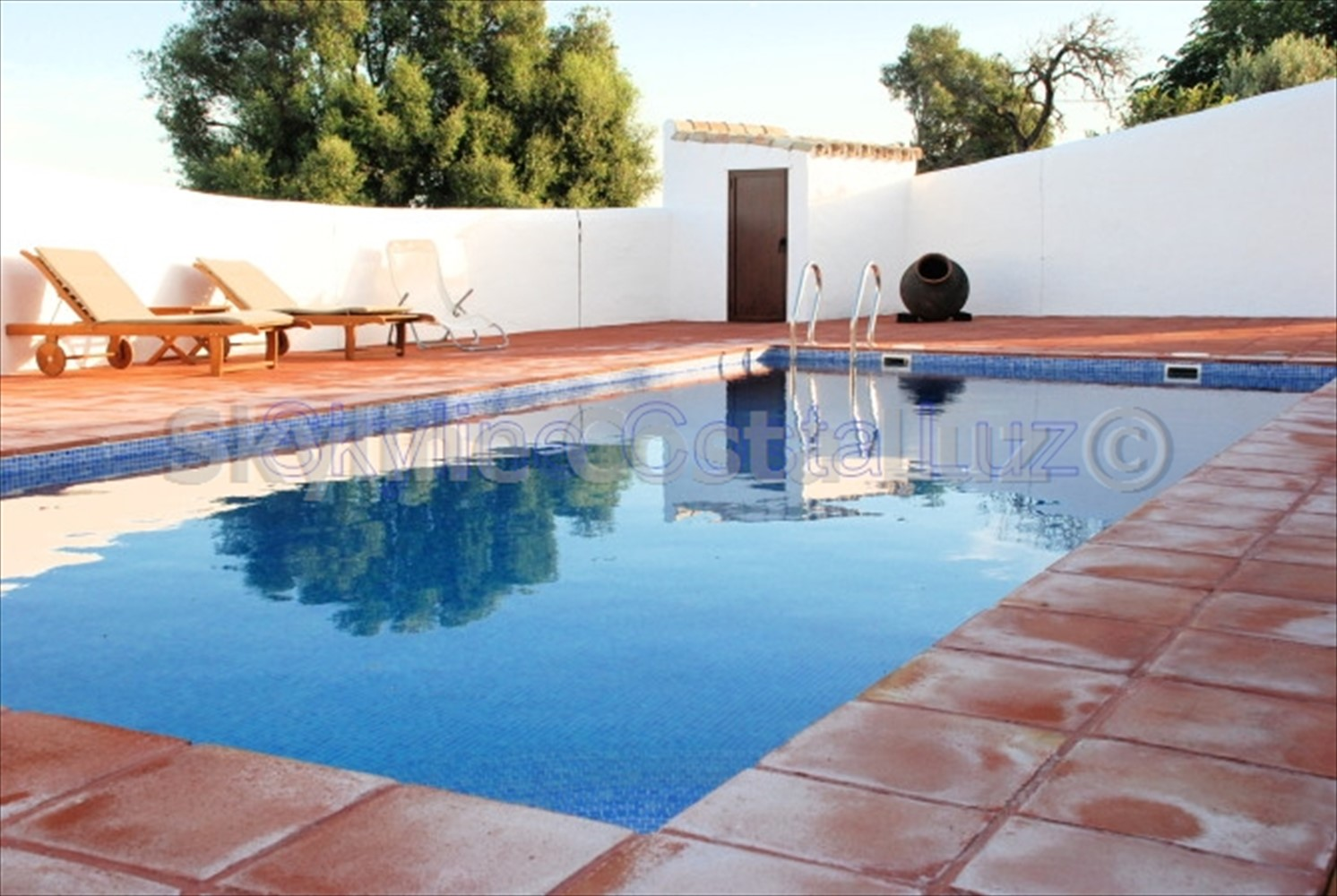 pool, finca for sale in vejer, costa luz, id 1449