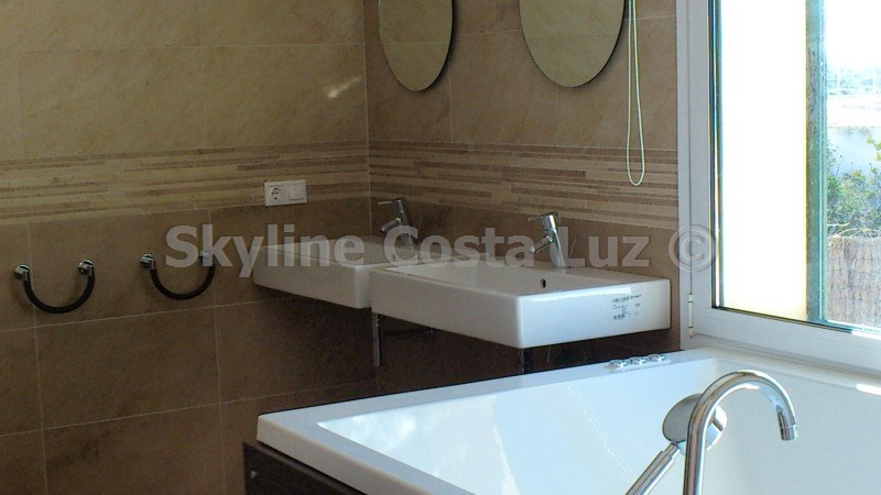 bathroom, villa in roche, conil, costa luz
