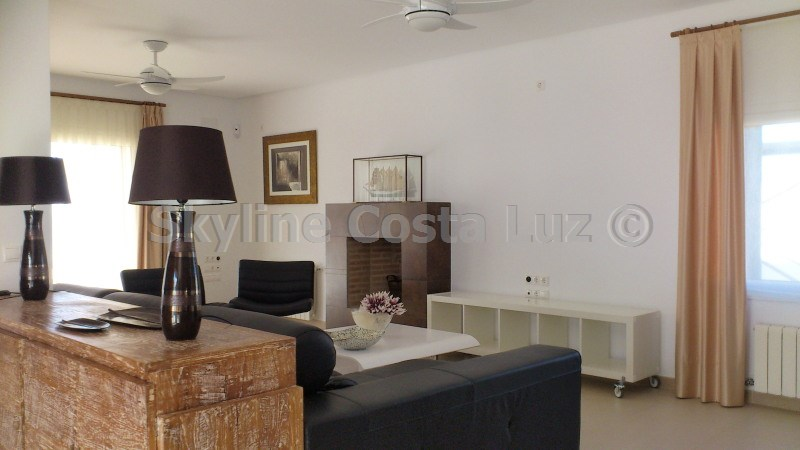 salon, lounge, wohnen, villa in roche, conil, costa luz