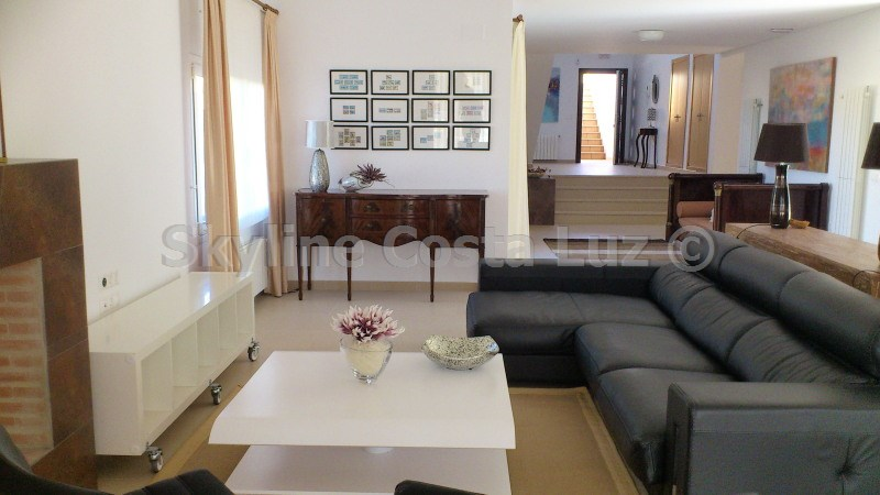 wohnen, salon, lounge, villa in roche, conil, costa luz