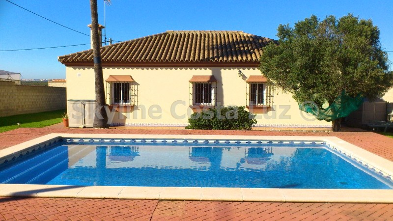 pool, piscina, villa in pinar franceses, chiclana, costa de la luz